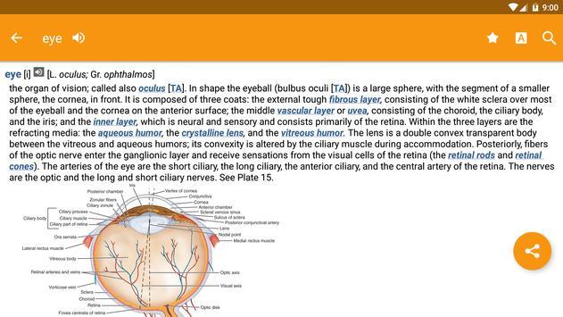 Dorland's Illustrated Medical Dictionary syot layar 13