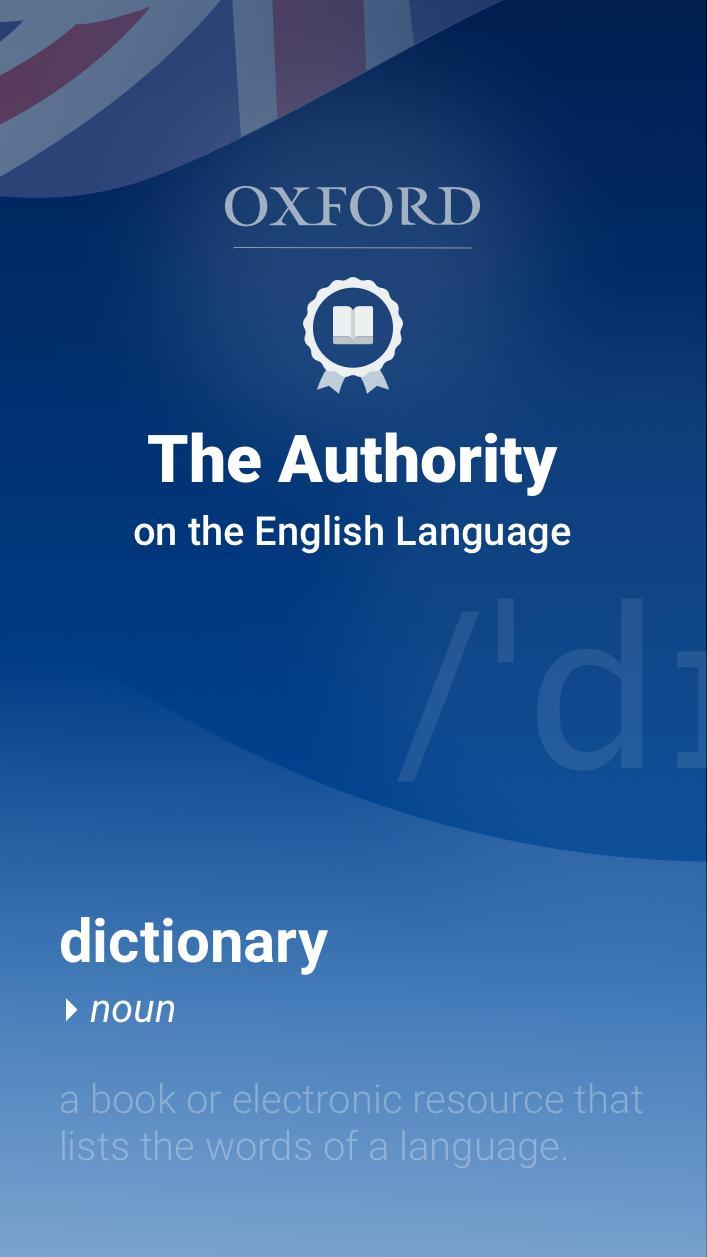 Oxford Dictionary of English für Android   APK herunterladen
