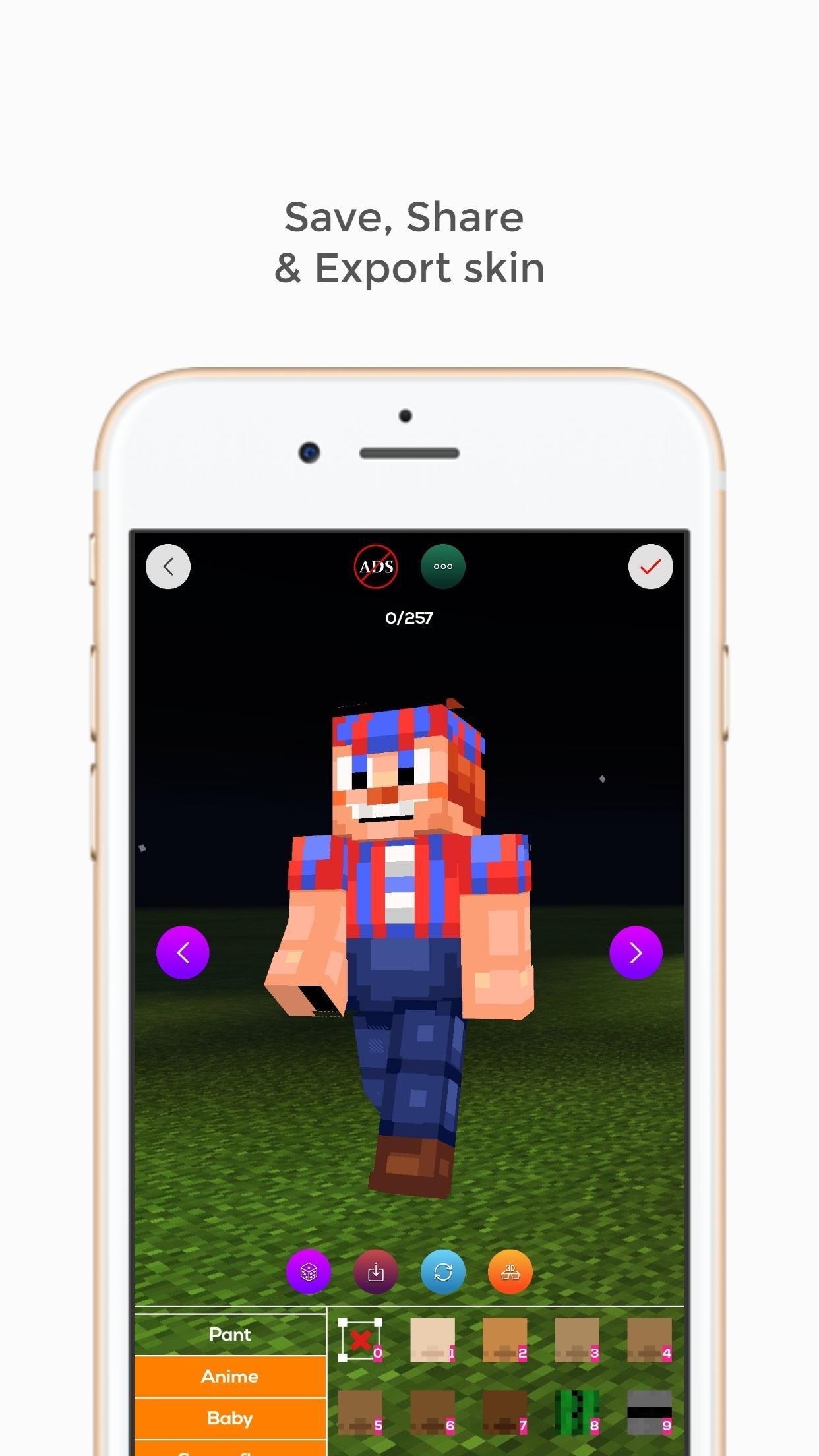 Custom Skin Creator 11D for Minecraft para Android - APK Baixar