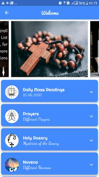 Mass Readings and Prayers poster