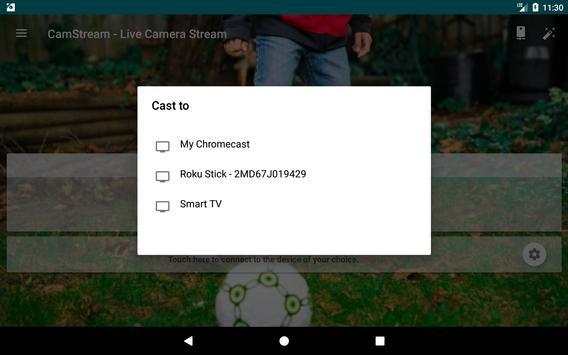 CamStream - Live Camera Streaming تصوير الشاشة 20