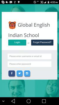 Global English Indian School poster