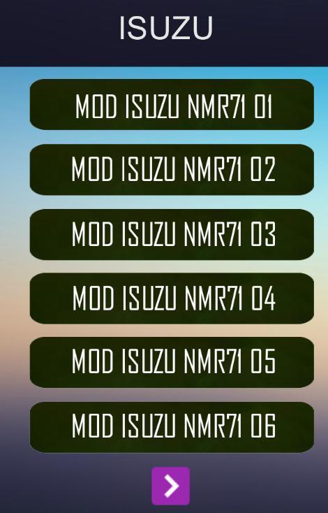 Aplikasi MOD Bussid Isuzu NMR71 yang baru