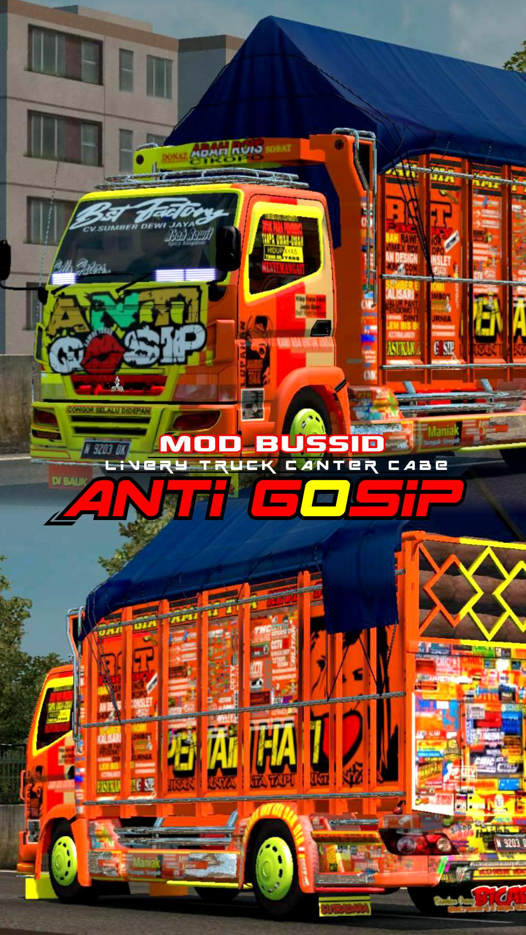 Mod Bussid Livery Truk Canter Cabe Anti Gosip For Android Apk Download
