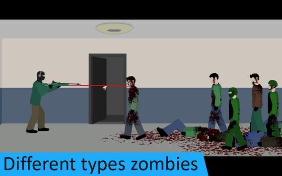 Flat Zombies: Defense & Cleanup screenshot 1