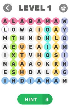 find words - US states poster