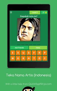 Teka Nama Artis (Indonesia) screenshot 10