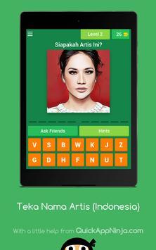 Teka Nama Artis (Indonesia) screenshot 16