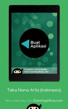 Teka Nama Artis (Indonesia) screenshot 18