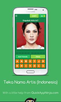 Teka Nama Artis (Indonesia) screenshot 2