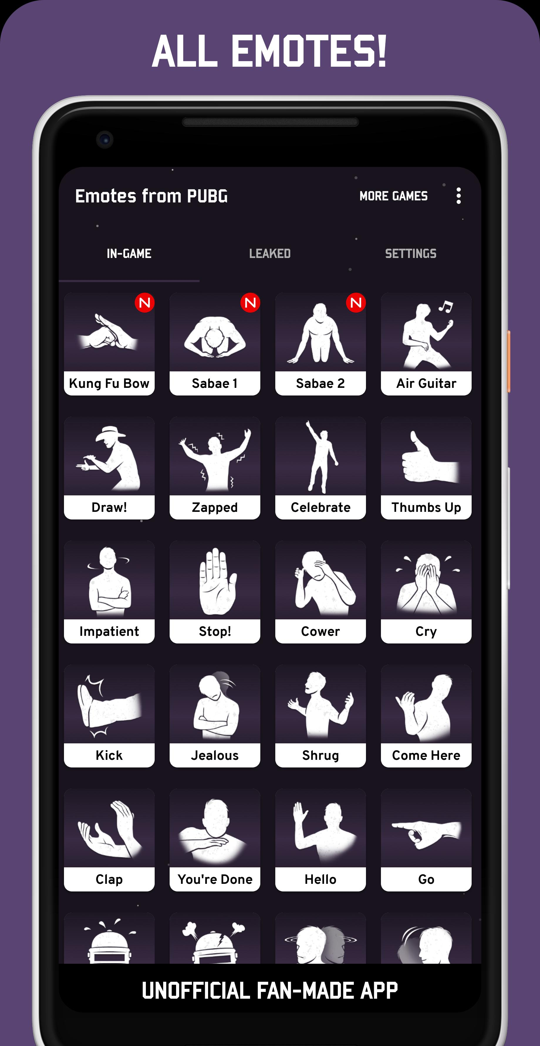 Free Roblox Dance Emotes Emotes From Pubg For Android Apk Download