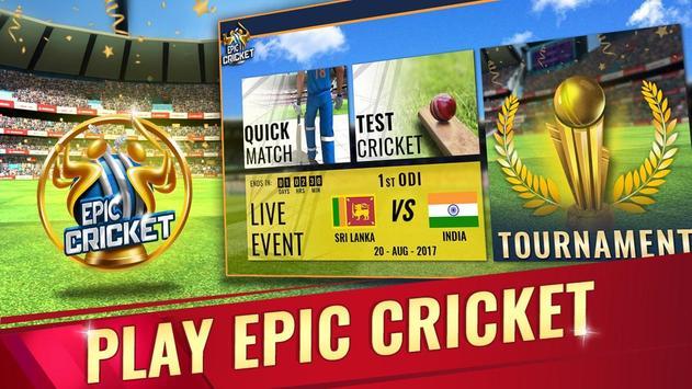 Epic Cricket पोस्टर