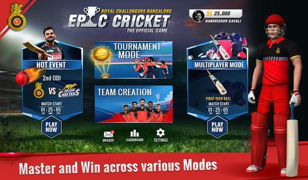 RCB Epic Cricket स्क्रीनशॉट 16