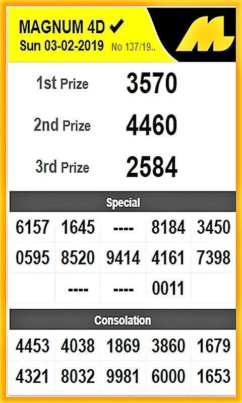 MY & SG 4D Live Draw Results for Android - APK Download