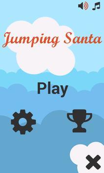 Jumping Santa poster