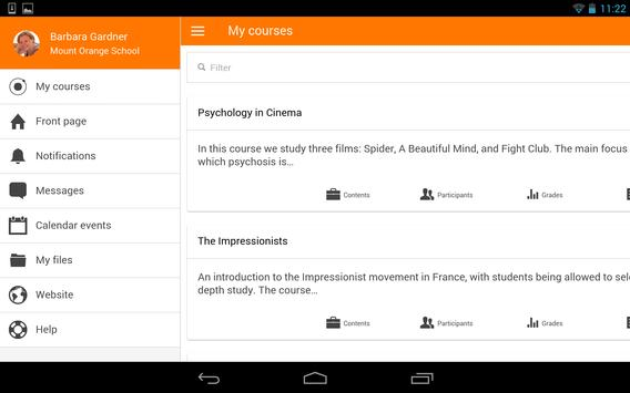Moodle screenshot 9