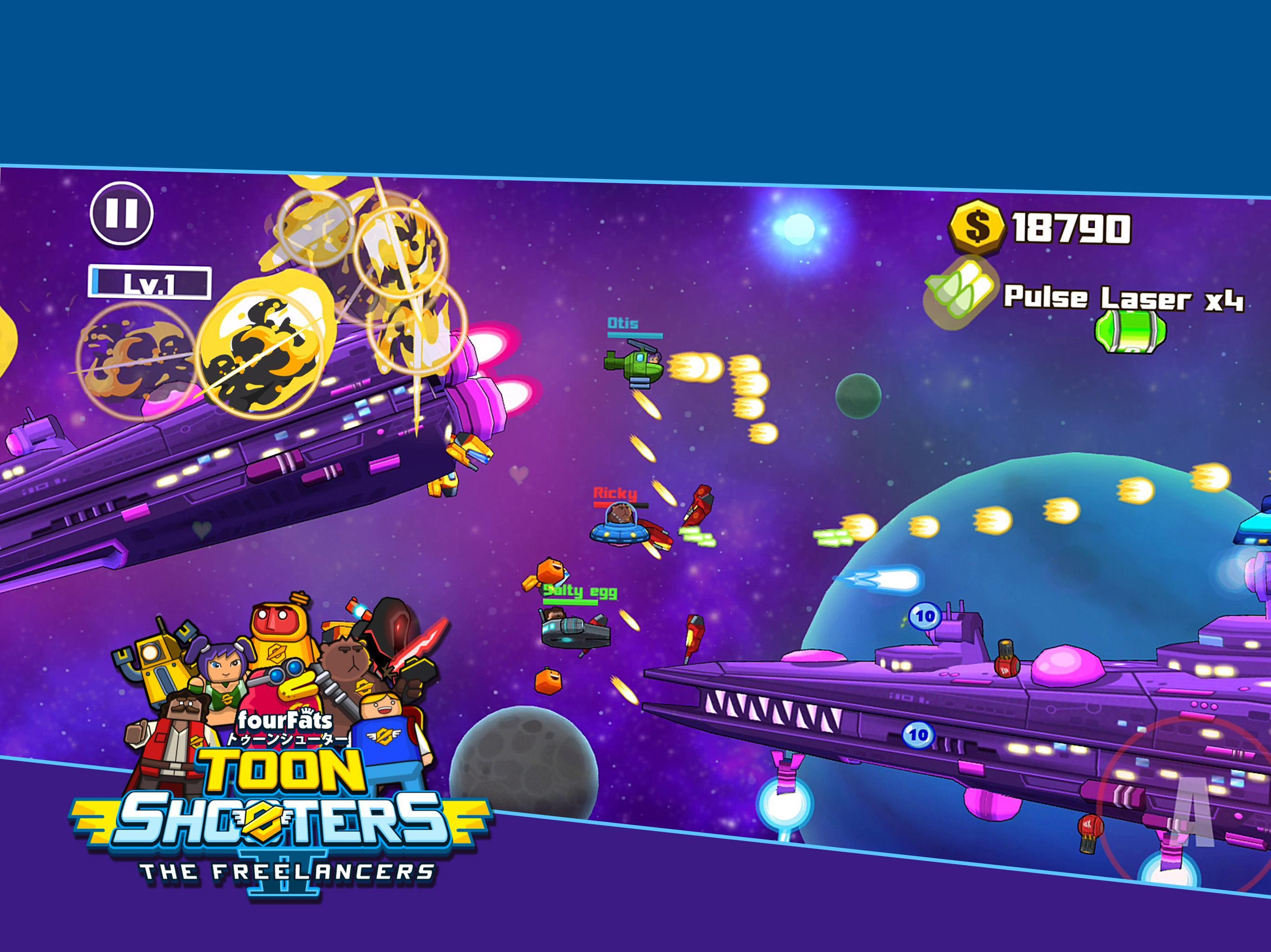 Toon Shooters 2: Arcade Side-Scroller Shooter for Android