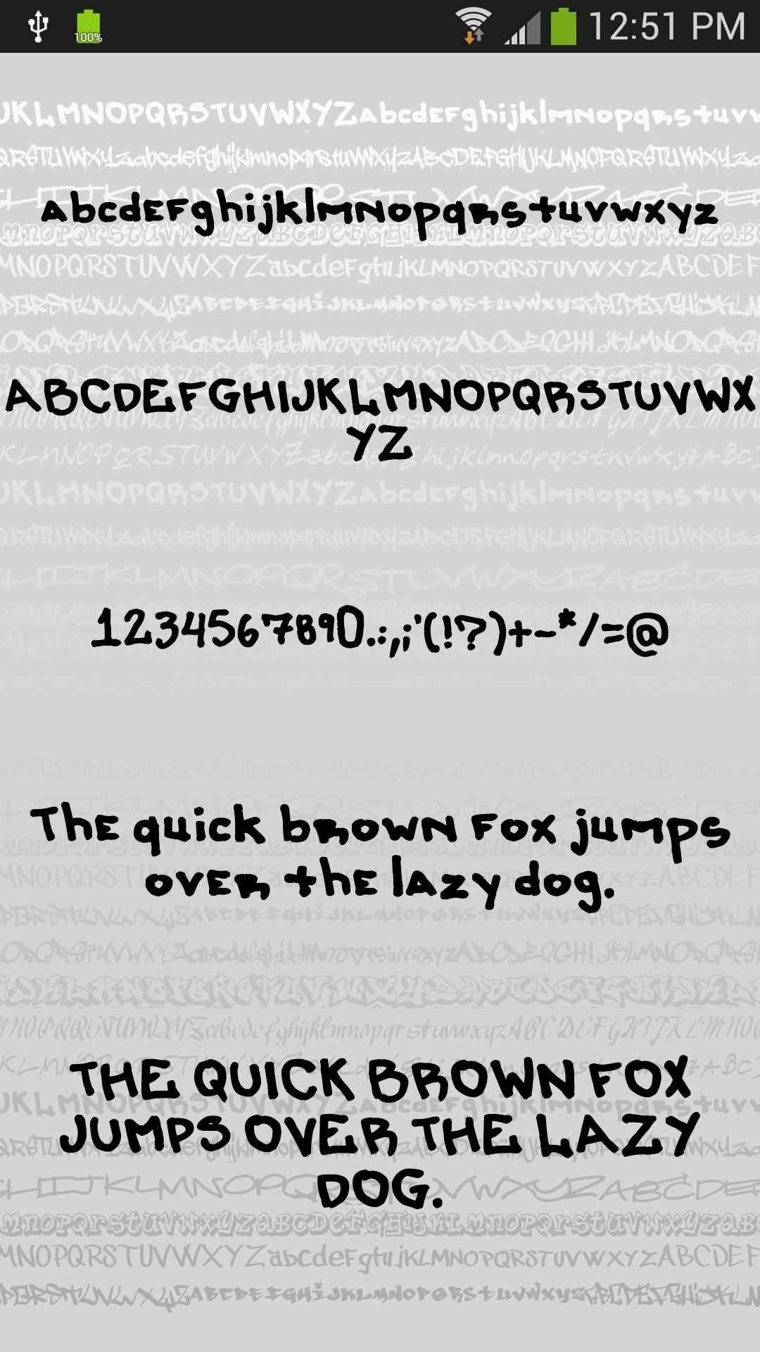 Download Fonts for FlipFont Graffiti for Android - APK Download