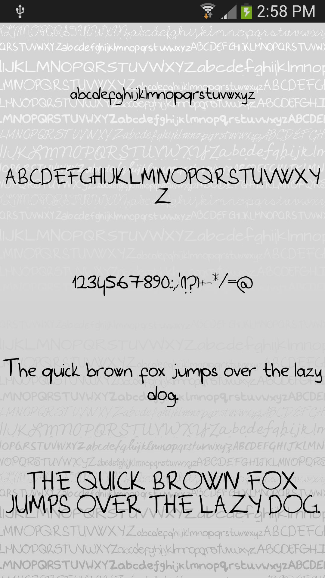 Hand3 fonts for FlipFont® free for Android - APK Download