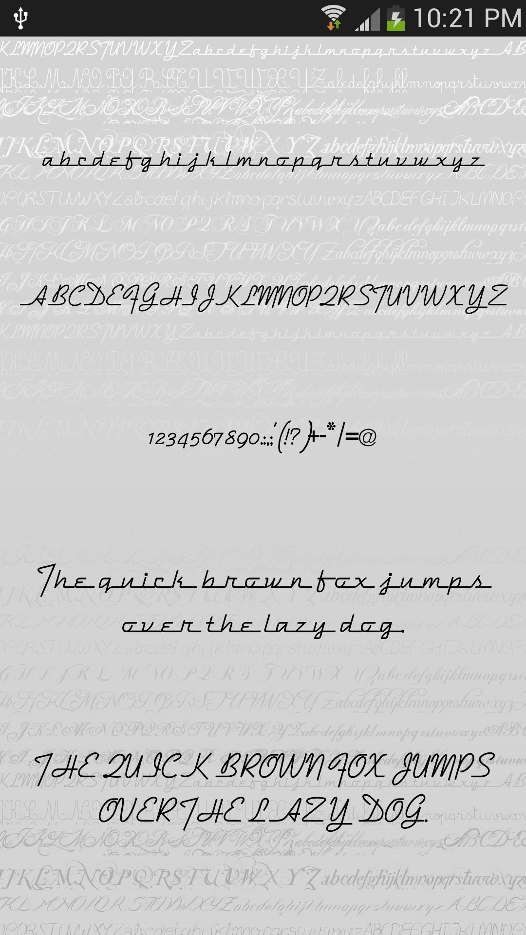 Script 2 Fonts for FlipFont® for Android - APK Download