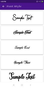 Font Style screenshot 2