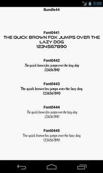 Fonts for FlipFont 44 poster
