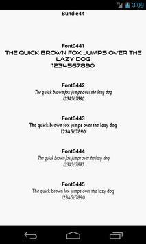 Fonts for FlipFont 44 screenshot 2