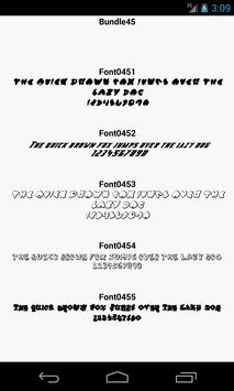Fonts for FlipFont 45 screenshot 2