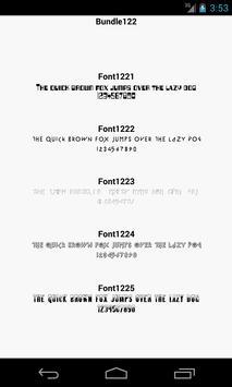 Fonts for FlipFont 122 screenshot 1