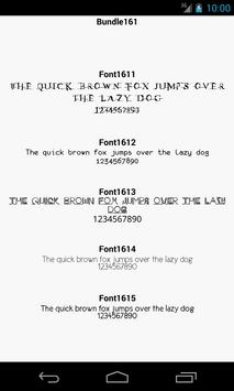 Fonts for FlipFont 161 screenshot 2