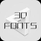 3D Font icon