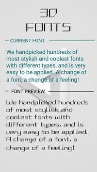 3D Font poster
