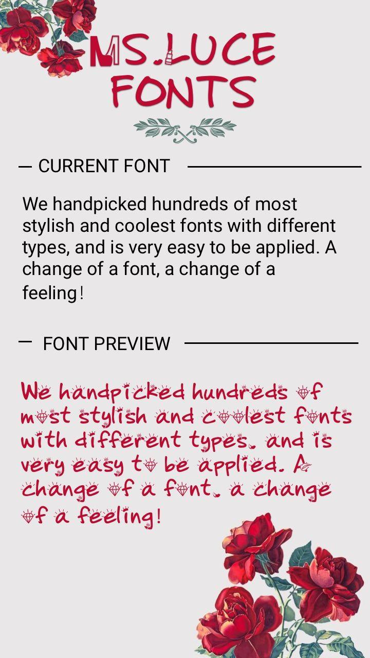 MsLuce Font for FlipFont , Cool Fonts Text Free for Android - APK