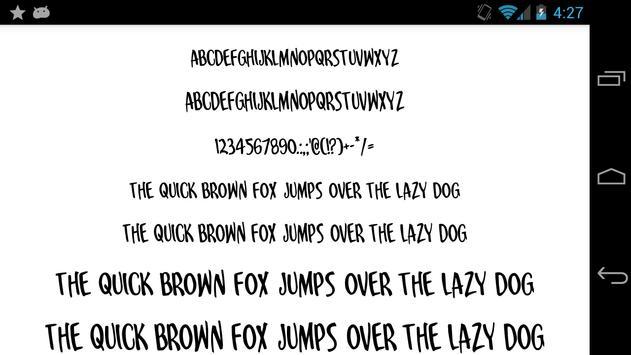 Fonts for FlipFont 50 25 poster
