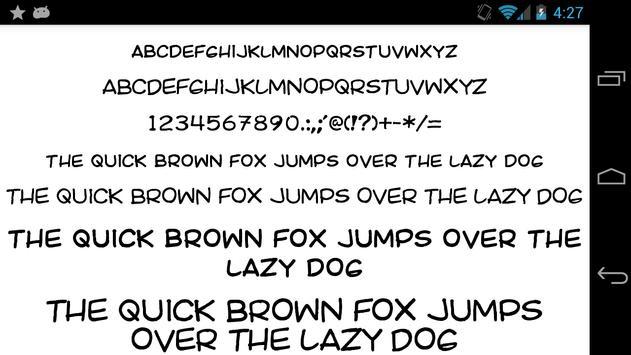 Fonts for FlipFont 50 25 screenshot 1