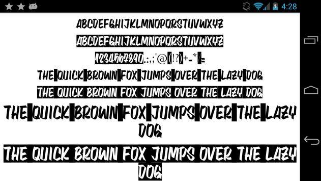 Fonts for FlipFont 50 25 screenshot 2