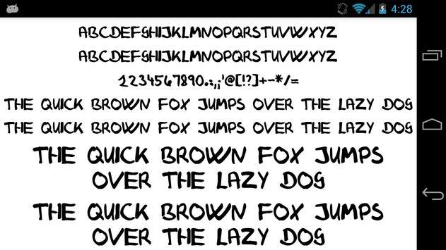 Fonts for FlipFont 50 25 screenshot 3