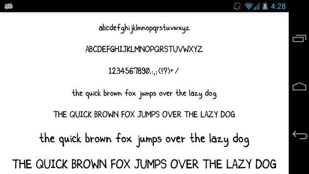 Fonts for FlipFont 50 25 screenshot 4