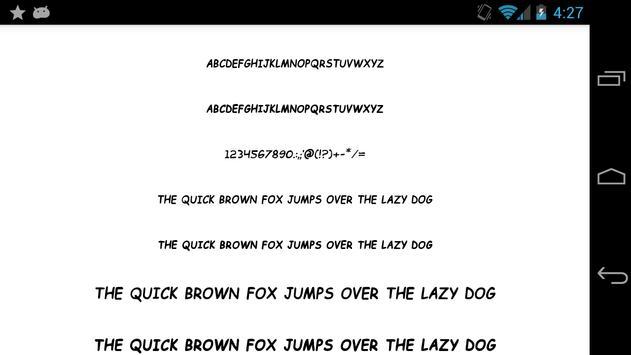 Fonts for FlipFont 50 25 screenshot 5