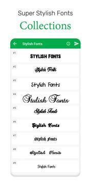 Stylish Fonts screenshot 1