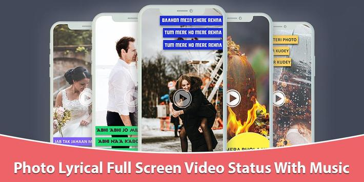 Photo Lyrical Full Screen Video Status With Music poster