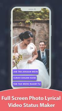 Photo Lyrical Full Screen Video Status With Music screenshot 1