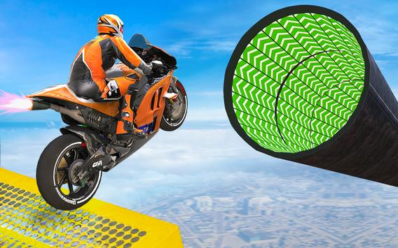 Bike Impossible Tracks Race: 3D Motorcycle Stunts poster