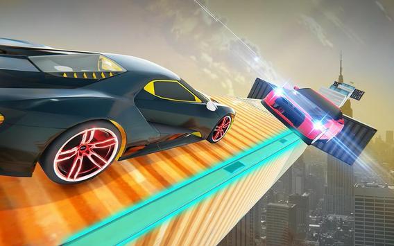 Impossible Crazy Car Track Racing Simulator poster