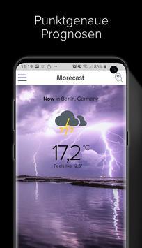 Wetter, Radar & Widget – Morecast Plakat