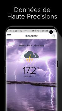 App Météo Android & Radar Doppler - Morecast capture d'écran 3