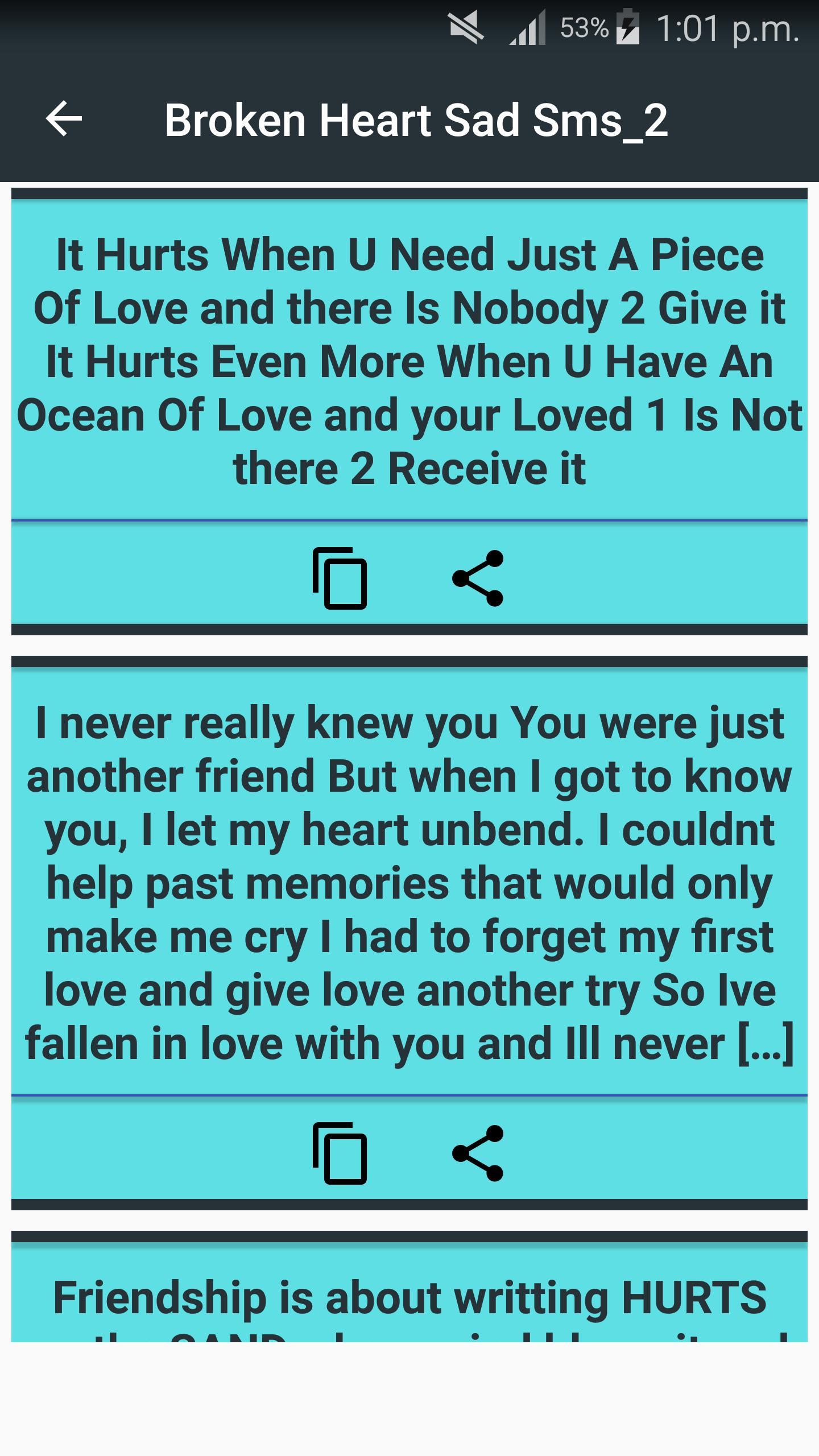 Sad heartbroken messages