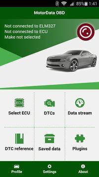 Diagnostik MotorData OBD Mobil. ELM OBD2 scanner poster