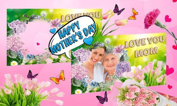 Happy Mother's Day photo frame poster