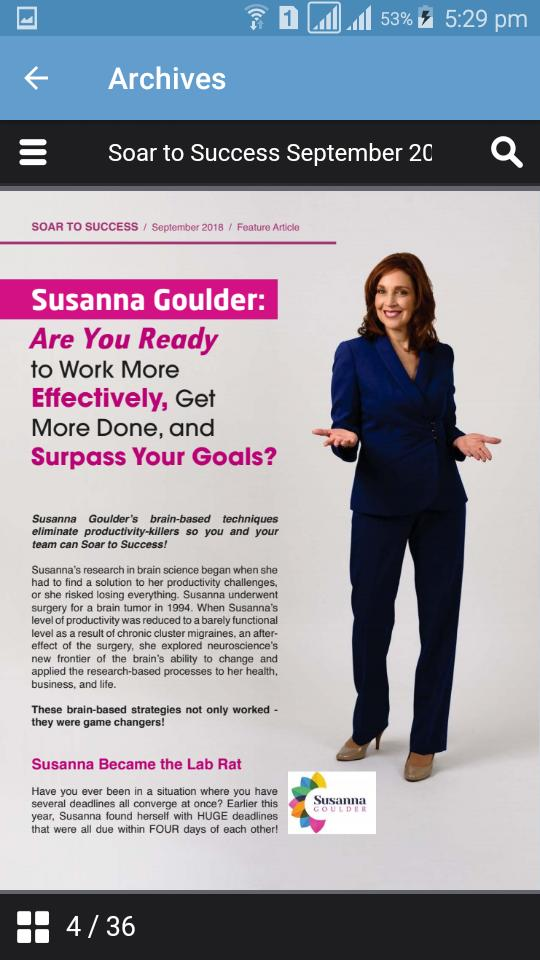 Soar To Success Magazine poster